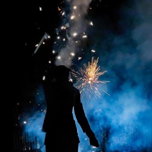 Spectacle pyrotechnique pour un mariage en Bretagne