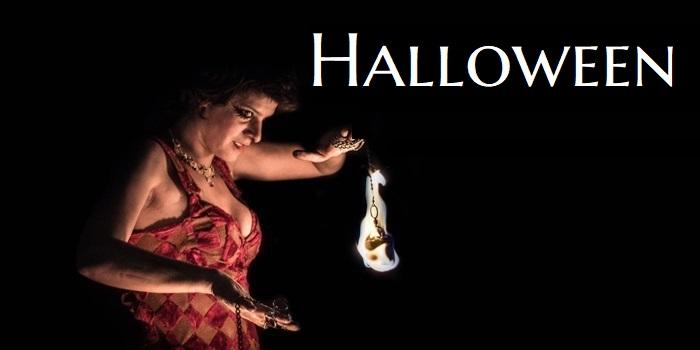 Spectacle de feu pour Halloween
