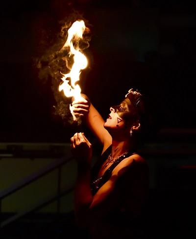 Spectacle de feu pour evg ou evjf
