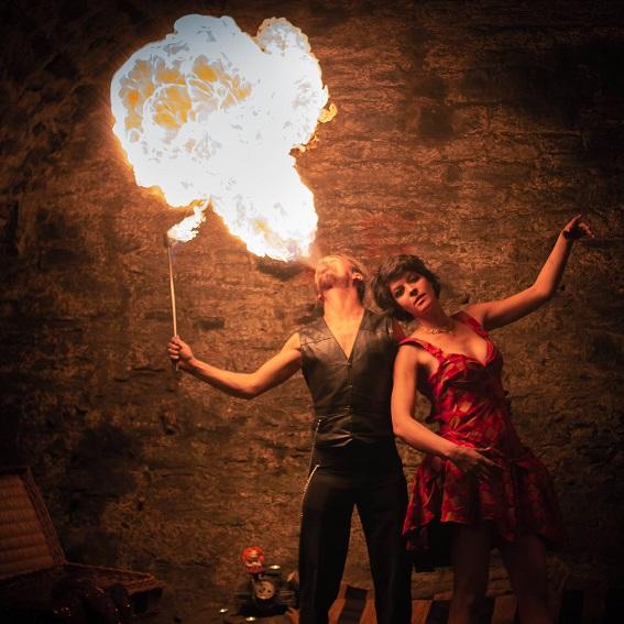 Spectacle de feu ambiance circus pour Noël