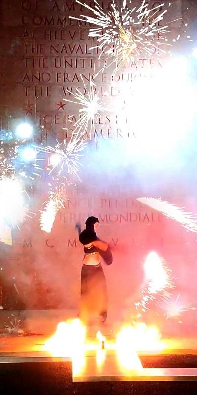 Grand spectacle pyrotechnique sur le folklore breton par la compagnie A'Tuin