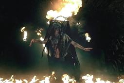 Volva - spectacle de feu chamane viking